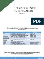 ENCABEZADORES DE SUBORDINADAS (1)