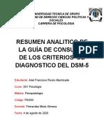 analisis del dsm-5