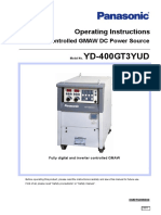 Inverter Controlled Mig Welding-machine YD-400GT3 Operating Manual