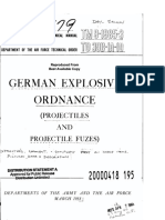 German explosive ordonance and fuzes 1953