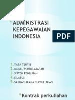 Pertemuan 2 Administrasi Kepegawaian Indonesia