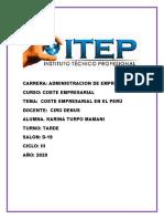 COSTE EMPRESARIAL EN EL PERU