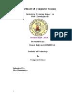 Kunal Internship Report