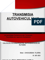 TRANSMISIA  AUTOVEHICULULUI