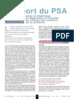 PSA et dépistage du cancer de la prostate