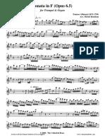 [Clarinet Institute] Albinoni Sonata 5 for Trumpet and Keyboard