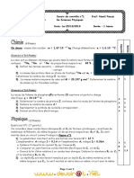 Devoir de Contrôle N°1 - Physique - 2ème Sciences (2010-2011) Mr Hemli Faouzi
