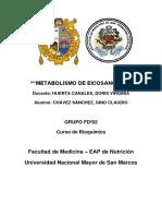 METABOLISMO DE EICOSANOIDES