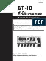 Manual GT-10 Portugues