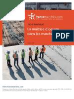 Maîtrise d'oeuvre dans les marchés publics (ex Loi MOP)