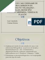 ESTUDIO DE CASO DERRAME DE HIDROCARBUROS EN OLEODUCTO