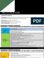 Diapositivas Declaraciónderenta y complementariodeuna persona natural obligada a llevar contabilidad y el respectivo procesodeconciliación fiscal