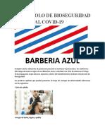 PROTOCOLO DE BIOSEGURIDAD BARBERIA