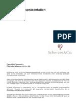 Scherzer & CO Unternehmens Praesentation Oct 2020