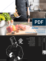 Presentacion utensilios de cocina para restaurantes