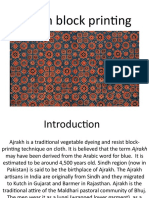 Ajrakh block printing