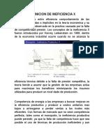 INVESTIGACION DE INEFICIENCIA X