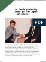 """66. Cajas-Guijarro y Pastor-Pazmiño (2020). """"Ecuador Deuda, pandemia y desigualdad"""""""