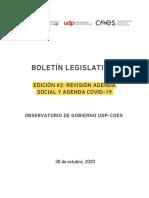 Revisión Agenda Social y Agenda Covid-19
