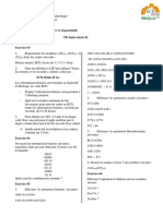 Logique Combinatoire et Séquentielle TD 1