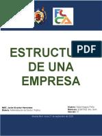TRABAJO 3 ESTRUCTURA DE UNA EMPRESA