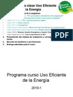 Programa curso Uso Eficiente de la Energía 2019-1