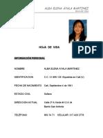 HOJA DE VIDA  ORGANIZADA