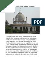 In the Praise of Hazrat Khaja Mujajdi Alif Thani