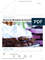 Receta de Marquise de Chocolate
