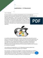 Les systèmes d'exploitation - E-Classroom