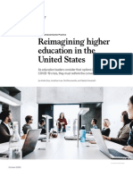 Reimagining Higher Education in the United States