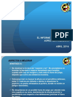Aspecto arbitrales a mejorar en AA Abril 2016