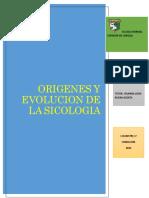 ORIGENES Y EVOLUCION DE LA SICOLOGIA-ACTIVIDAD 1PDF