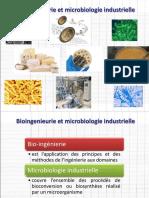 bioingenierie et microbiologie industrielle
