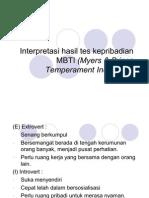 Interpretasi hasil tes kepribadian MBTI (Myers &