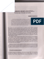 N.L.P.-Programarea neuro-lingvistica