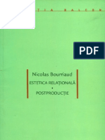 Nicolas Bourriaud - Estetica relationala. Postproductie