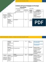Calendario de Actividades Psicología Comunitaria III PAC-2020 Victor Manuel Cardona Rios