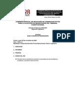 Agenda de La Quinta Sesión Extraordinaria de La Comisión de Selección de Candidatos TCl TC