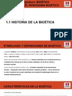 BREVE HISTORIA DE LA BIOETICA