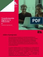 Transformación Digital en la Educación Agosto 2020