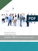 Requisitos para la certificación como. Auditor IRCA (Todos los esquemas) (1).pdf