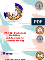 PA 702-THE DECILES  FOR UNGROUPED AND GROUPED DATA