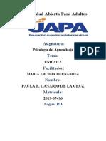 Tarea 2 de Psicologia Del Aprendizaje Paula e. Canario de La Cruz
