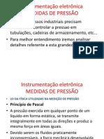 Instrumentação eletrônica Pressao