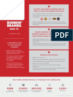 Inspire Brands to Acquire Dunkin' Brands Transaction Fact Sheet