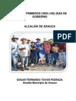 INFORME 100 PRIMEROS 100 ALCALDE ARAUCA EDGAR FERNADO TOVAR.pdf