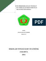 COVER MAKALAH ~ Pengaruh Tingkat Teknologi Terhadap Pertumbuhan Ekonomi Indonesia