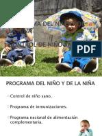 PROGRAMA DEL NIÑO