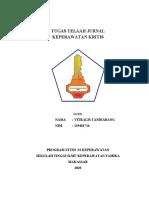 TUGAS TELAAH JURNAL KEREPAWARAN  KRITIS VITRALIS TANDIABANG